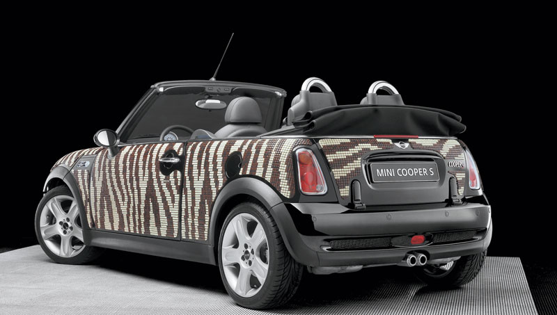 art car, Mini y Bisazza se unen para vestir a 4 Minis